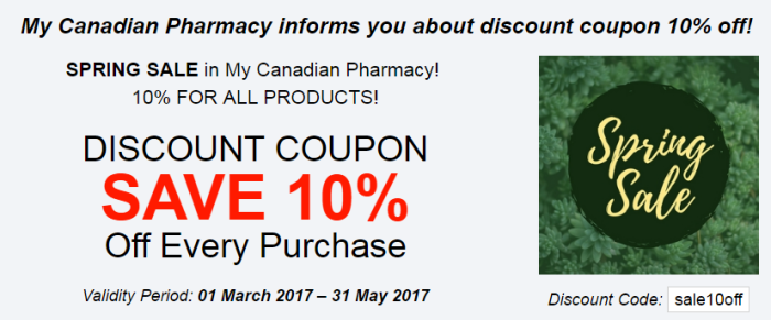 My canadian pharmacy discount coupon